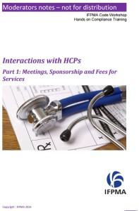 IFPMA Interactions with HCPs 1 - Meetings, etc.
