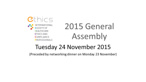 ETHICS Society 2015 General Assembly