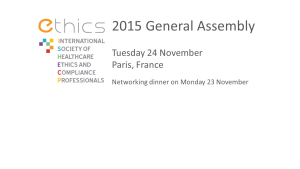 ETHICS 2015 General Assembly