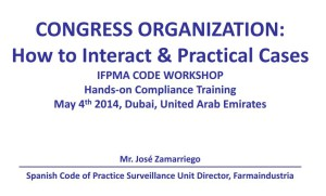 IFPMA Training - Congress Organization