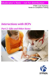 IFPMA Interactions with HCPs 2 - Gifts