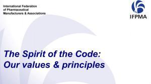 IFPMA Code Training - Spirit of the Code
