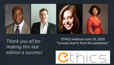 2020 ETHICS special webinar series on Covid-19