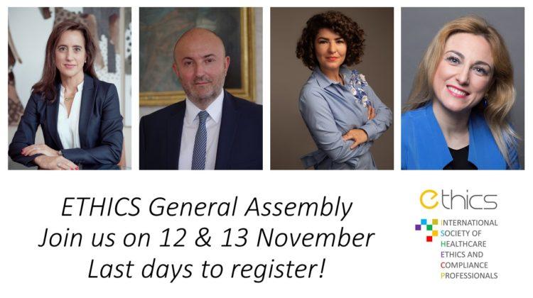 Register now! ETHICS General Assembly on 12-13 November 2020