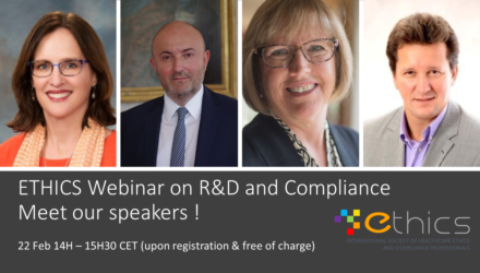ETHICS 2021 Webinar on R&D and Compliance – Feb 22