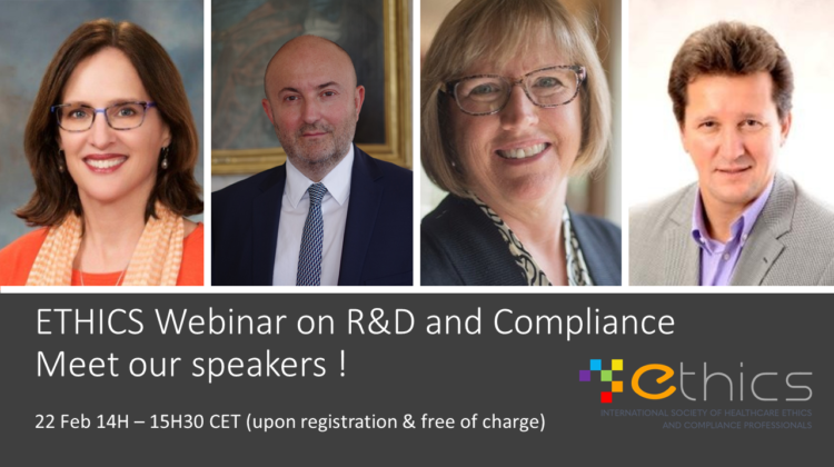 ETHICS 2021 Webinar on R&D and Compliance – Feb 22